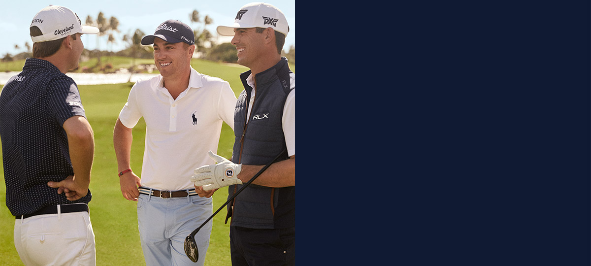 Justin Thomas, Billy Horschel & Davis Love III on golf course