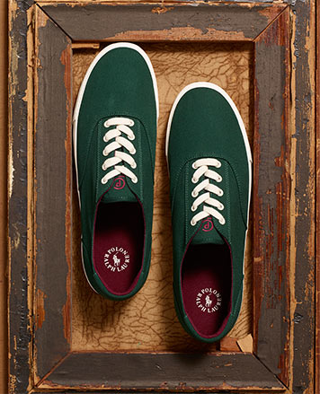 Irish green lace-up sneakers