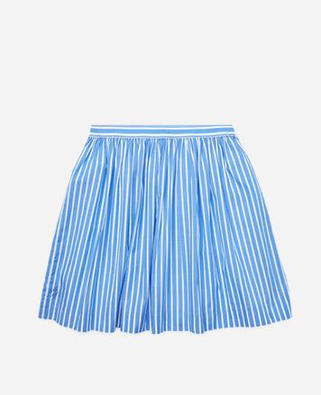 5047c8c7da31 Blue-and-white striped circle skirt.