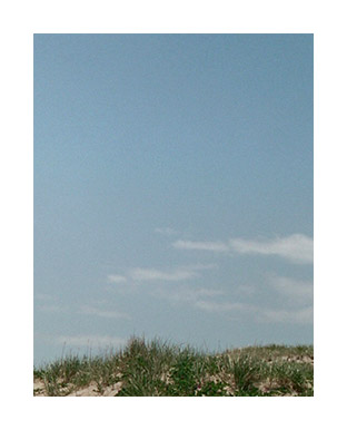 Photograph of grassy hill on beach