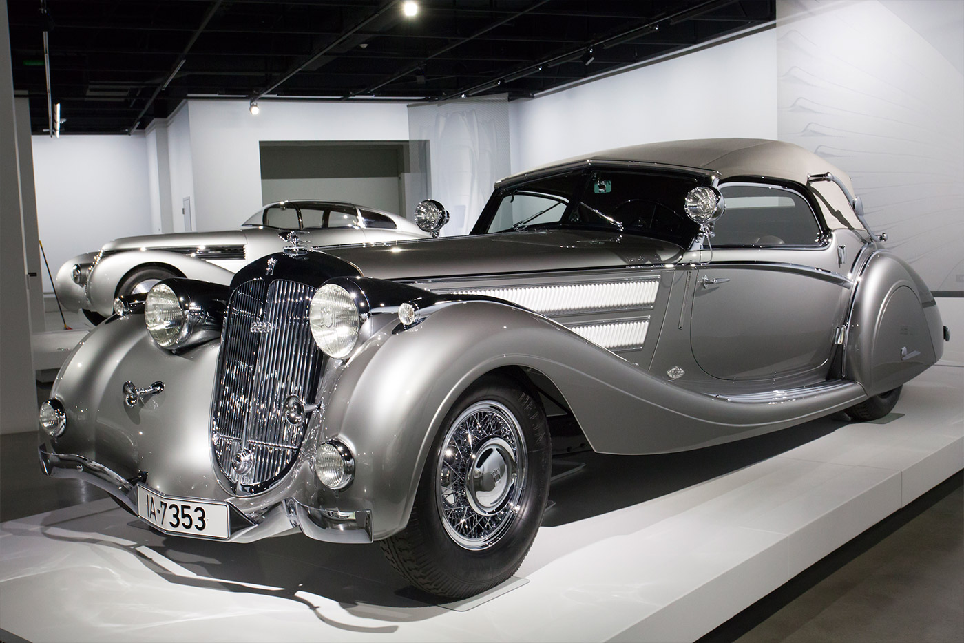 "1937 Horch 853 Sport Cabriolet: This model is currently highlighted in the Petersen's ""Precious Metals"" exhibition"