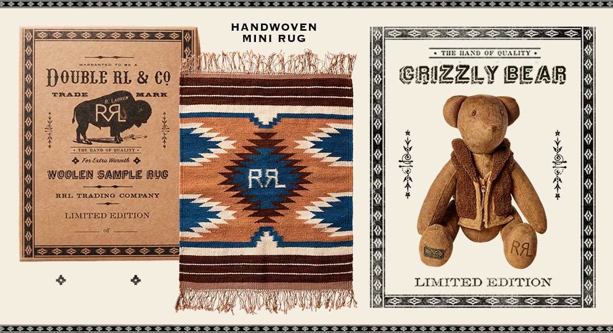 Southwestern-inspired fringe rug & teddy bear wearing vest