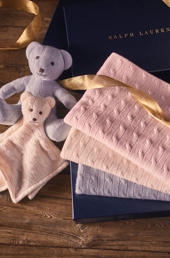 Cashmere baby blankets in pastel hues