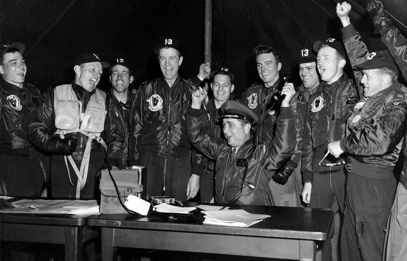 Members of the USAF 4708th Defense Wing at Otis Air Force Base, 1954