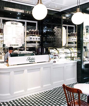 Interior of Ralph's Coffee Tokyo location