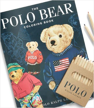 The Polo Bear Coloring book and colored pencils.