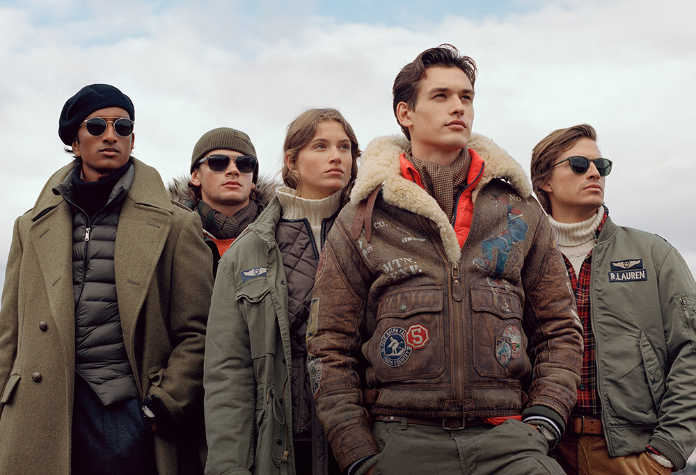 Men in army green & brown military-inspired jackets & coats