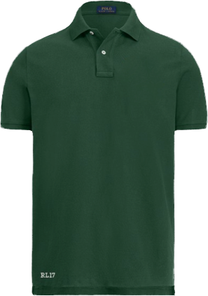 Green Polo shirt with crest at front