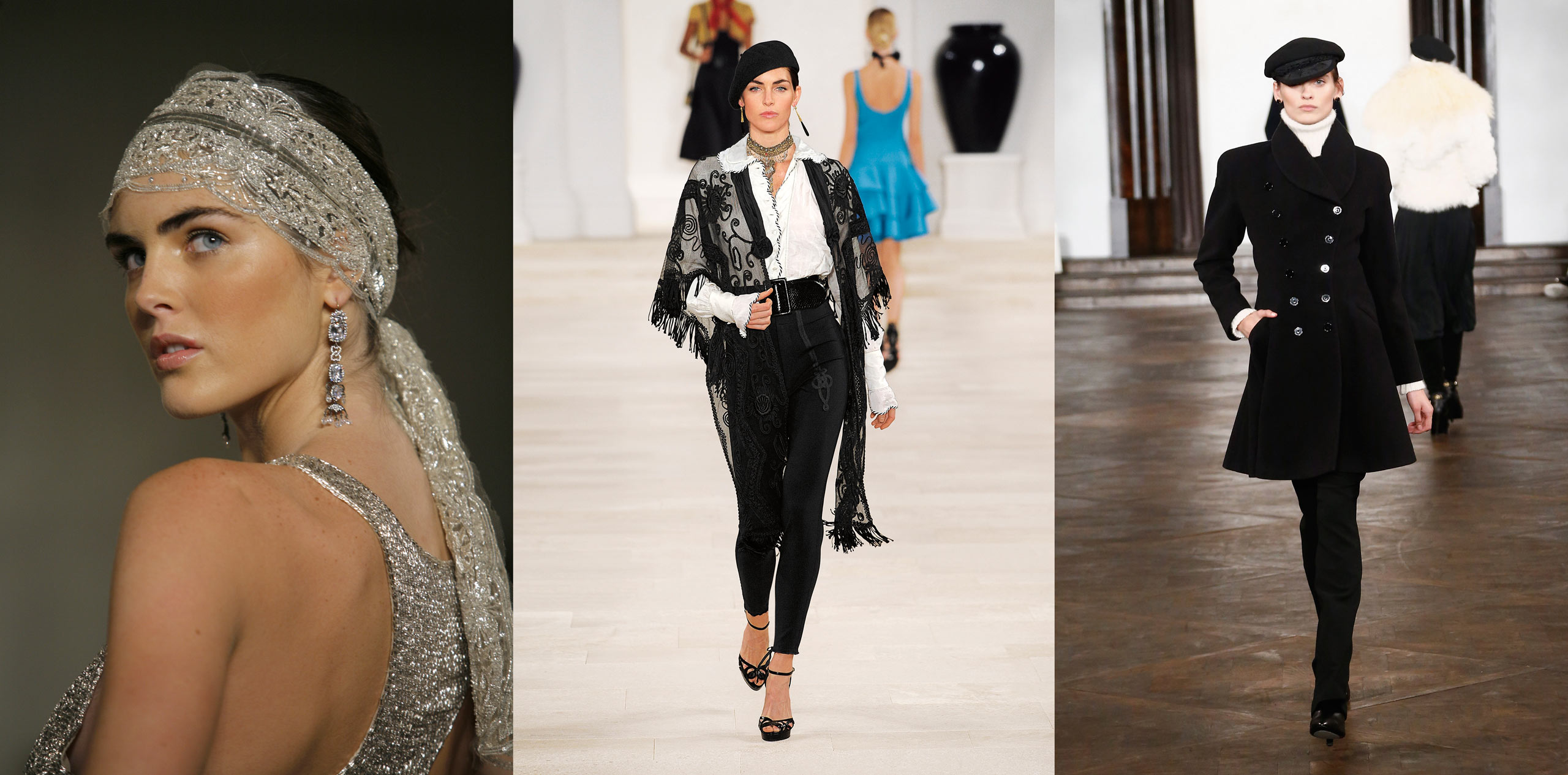 "Walking the runway for Ralph Lauren has been ""a dream"" for Rhoda, pictured here in 2007 and twice in 2013."