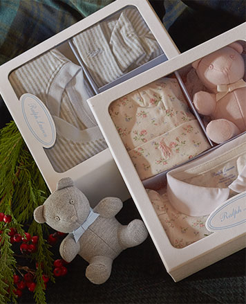 Boxed gift sets for baby girl.