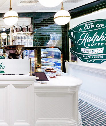 Interior of Ralph's Coffee Hong Kong location