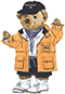 Illustrated Polo Bear in raincoat
