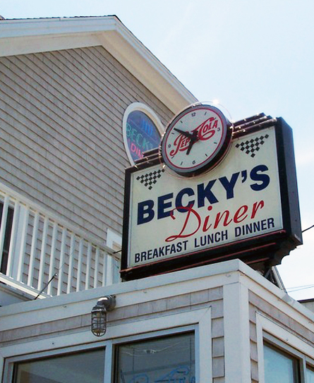 Mingle with locals at Becky's Diner, a no-frills favorite famous for its greasy-spoon fare