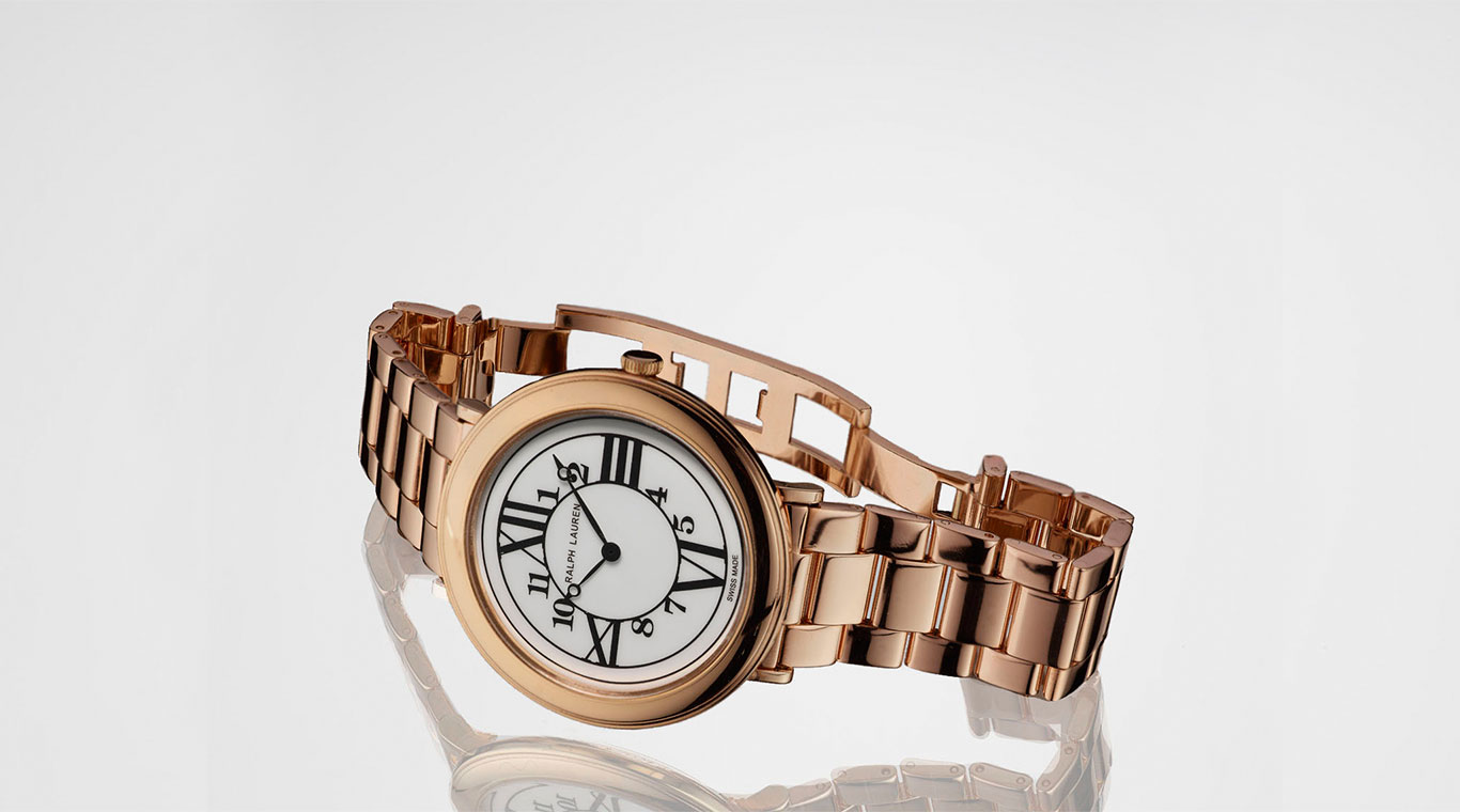 Rose gold RL888 watch with 3-link bracelet