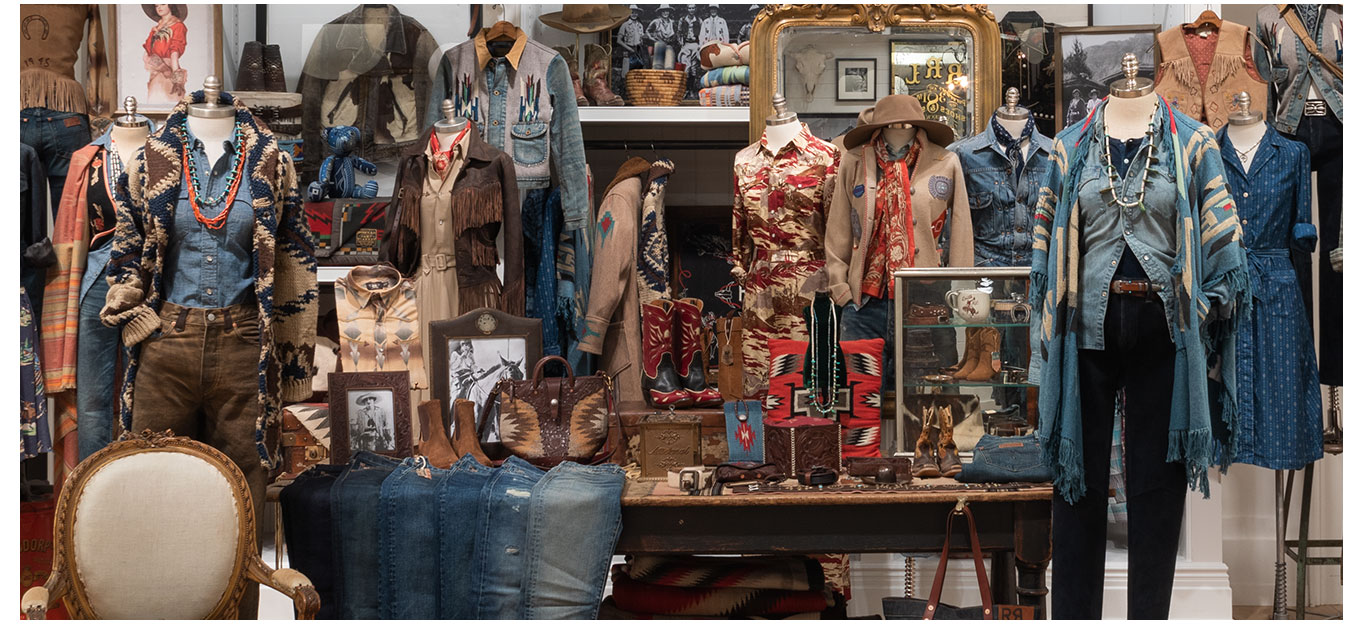 Photograph of Double RL women's showroom