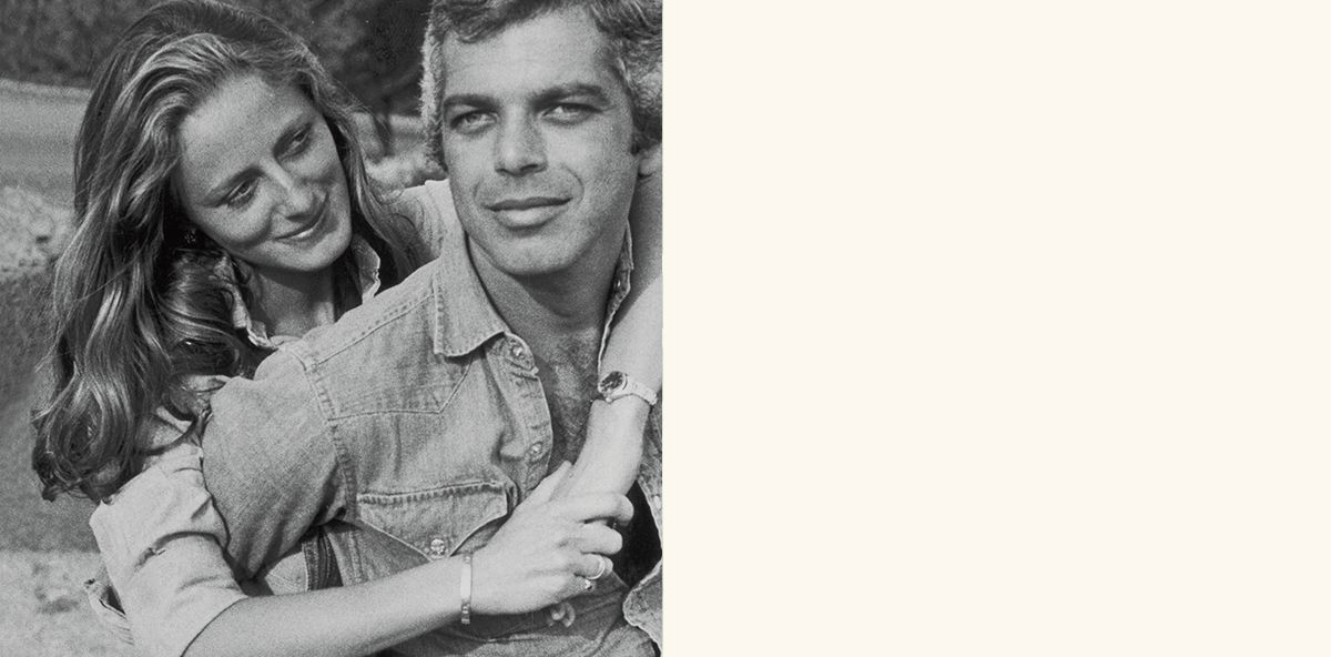 Black-and-white photograph of Ralph and Ricky Lauren.
