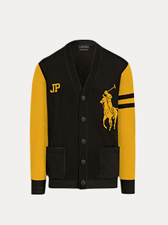 black & gold cardigan