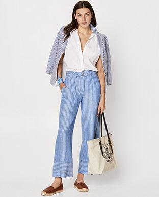 Striped Linen Pant
