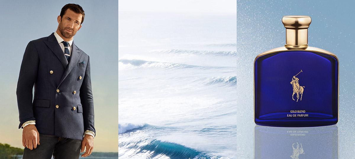 Polo Blue Gold Blend fragrance & Luke Rockhold by ocean