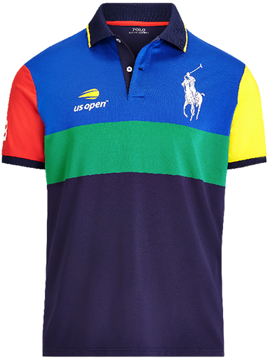 Color-blocked US Open ballperson Polo shirt in primary hues