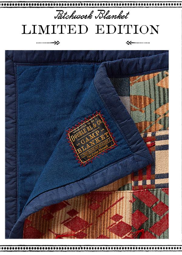 Southwestern-motif blanket with blue underside