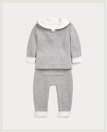 Grey reversible hoodie and pant.