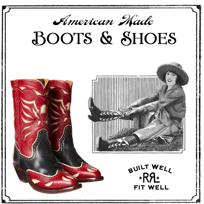 Red & black leather cowboy boots with contrast Southwestern motif