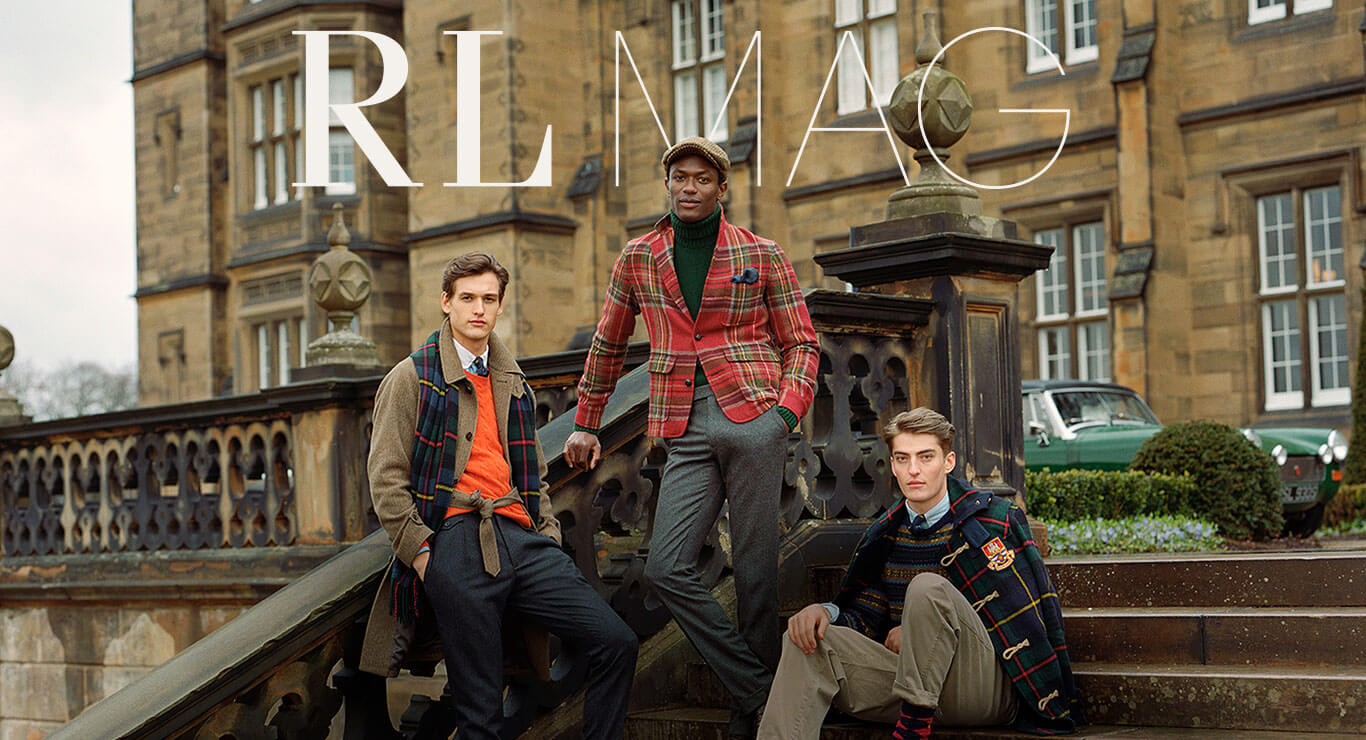 RLMAG - Men sitting on steps in plaid layers & outerwear
