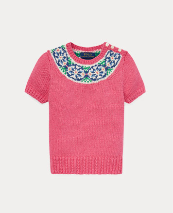 Boys  Polo Shirts. Pink short-sleeve sweater with stitched pattern at the  collar. 1859e1c72