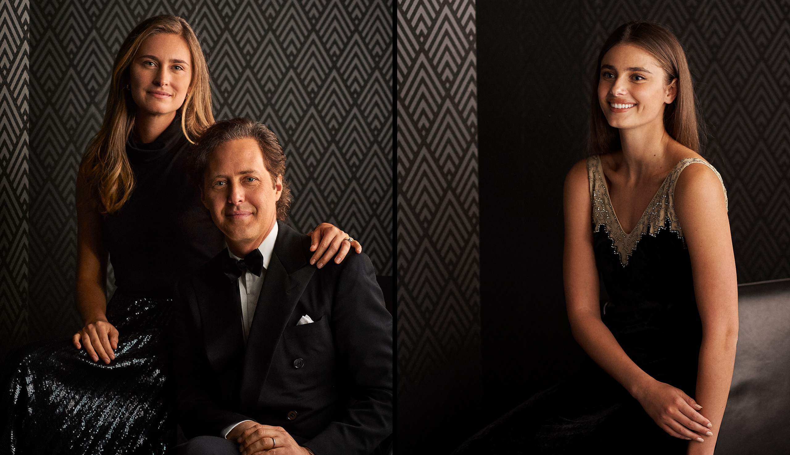 Left: Lauren Bush Lauren and David Lauren; Right: Taylor Hill