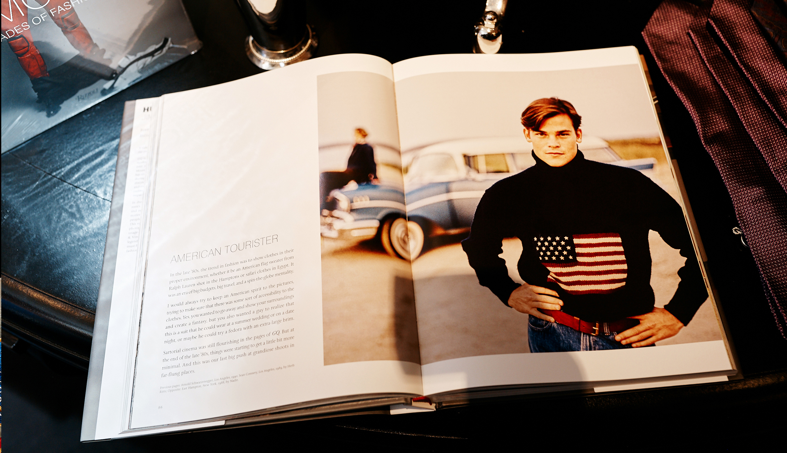 Polo's Iconic Flag Sweater, as seen in the pages of <em>GQ</em>
