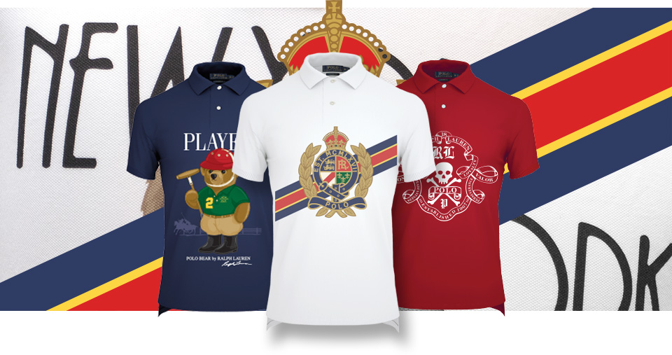 3ca211d7effec5 Polo shirts with custom US Open graphics