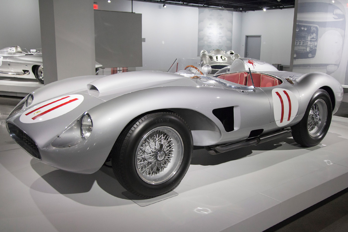 1957 Ferrari 625/250 Testa Rossa: Also on display in the Precious Metals exhibit, this stunning car is on loan from Bruce Meyer, one of the PAM's board members