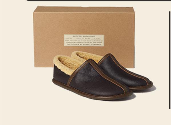 Dark brown shearling camp shoe