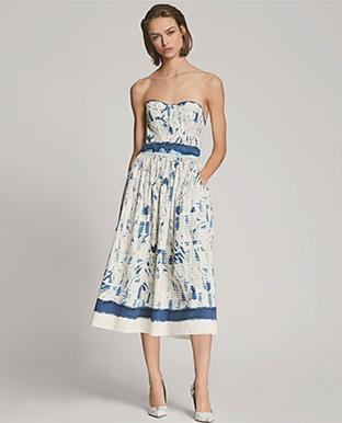 Sheena Cotton Strapless Dress