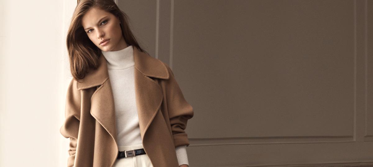 Model in suede safari jacket & model in leather flight jacket