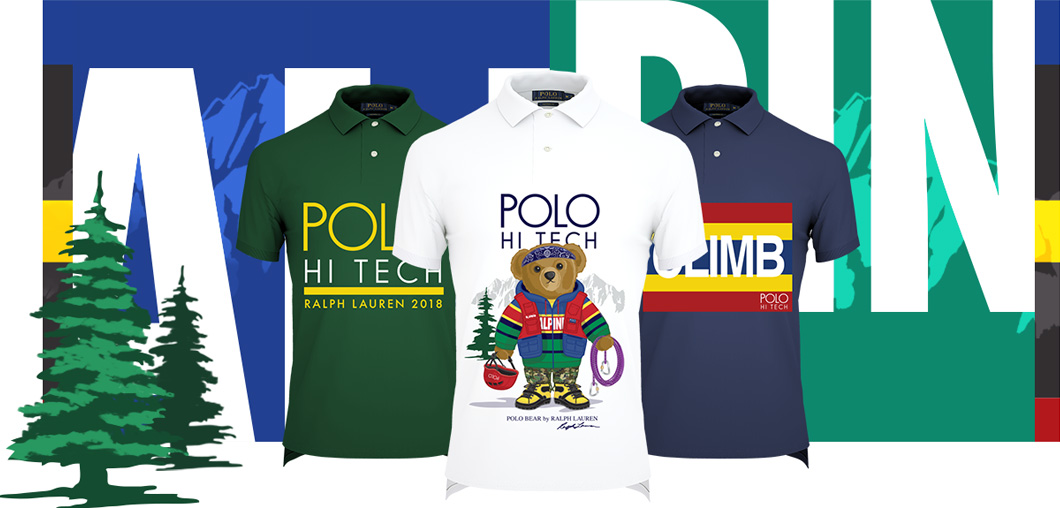 Polo shirts featuring Hi Tech custom graphics