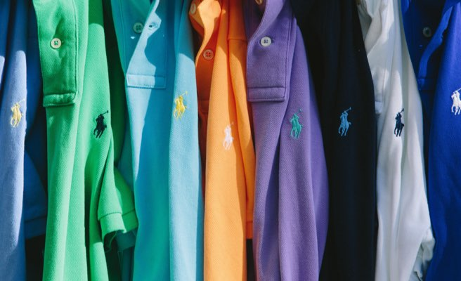 Colorful Polo shirts with contrast Polo Pony accents.