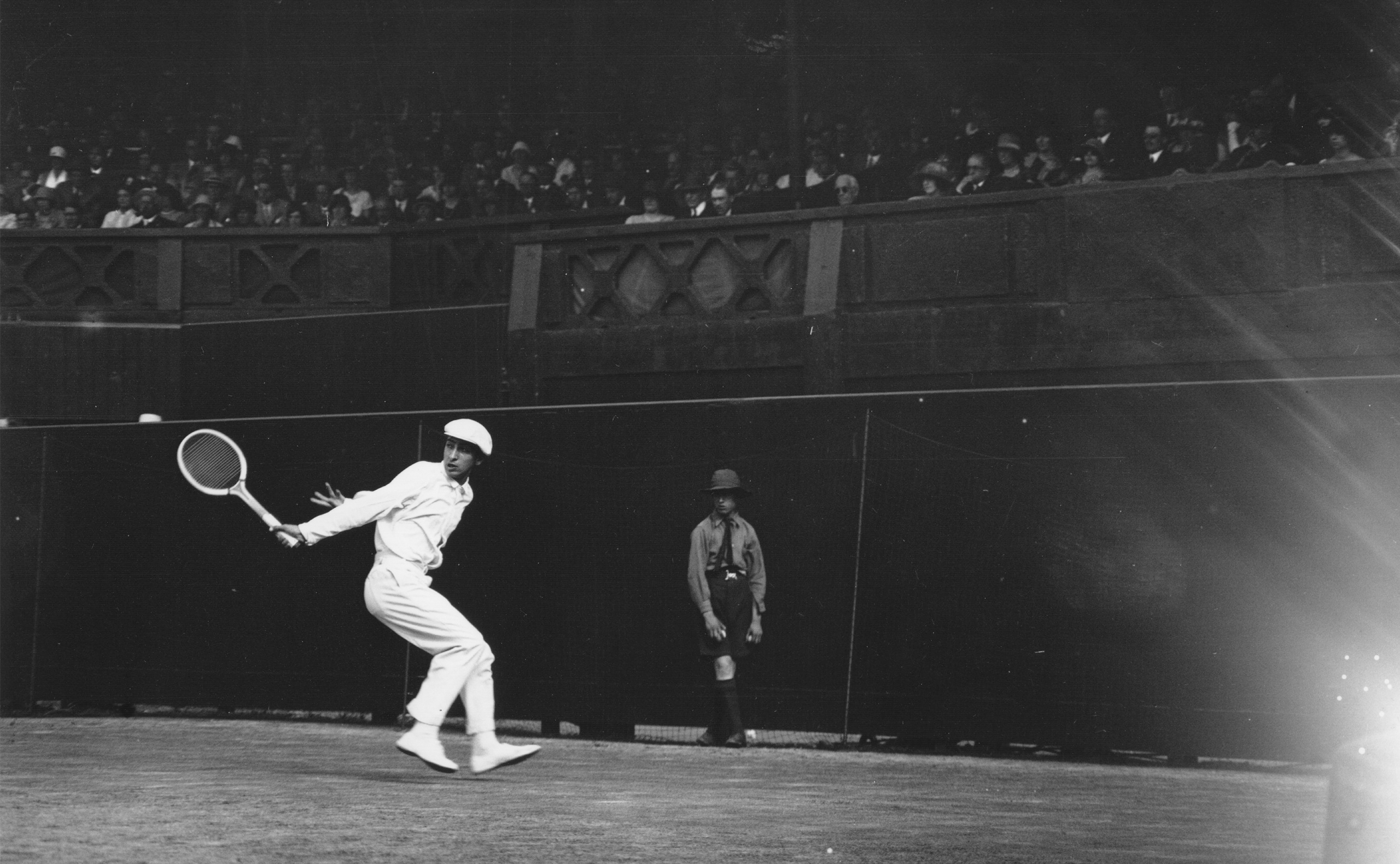 Rene Lacoste competes at the men's semifinals in 1925