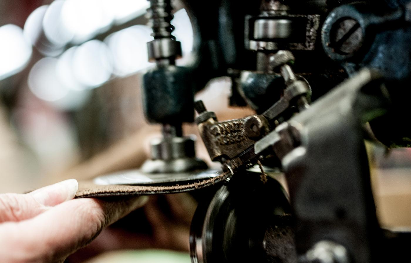 Horween leather is hand-cut by Rancourt & Co.'s artisans to ensure that only the best sections make it to the final product.
