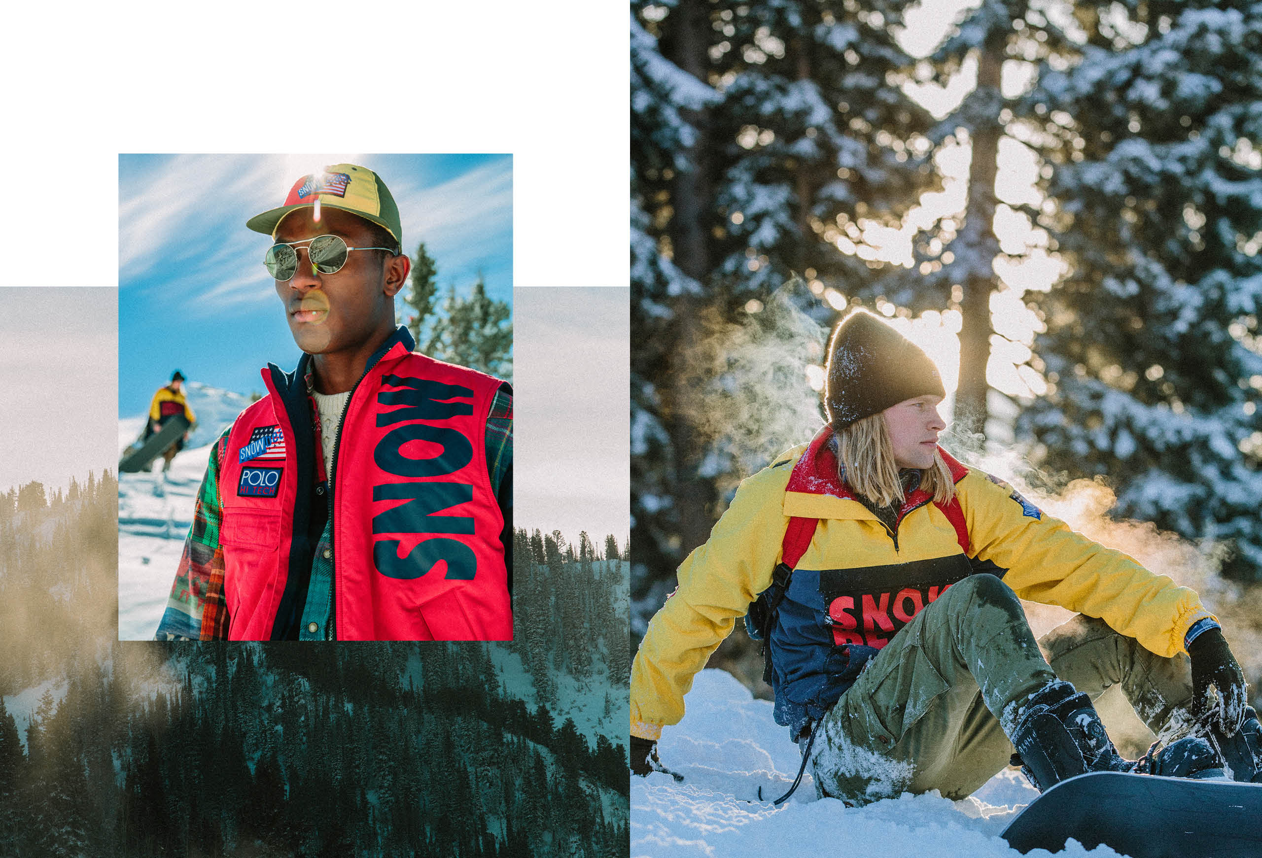 The 2018 Snow Beach campaign, featuring the Color and Black & White collections