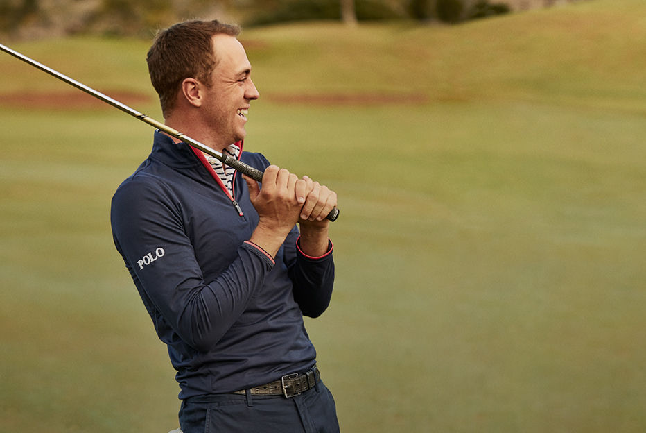 Justin Thomas wears Polo Golf outfit on golf course