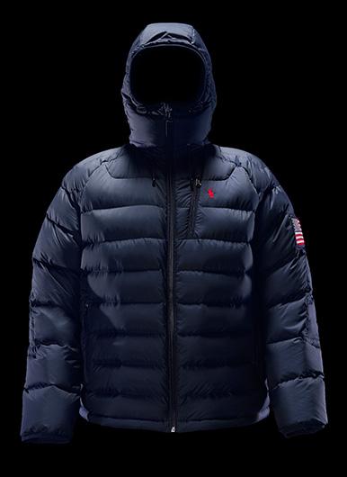 White Polo 11 jacket & navy & silver Glacier jackets