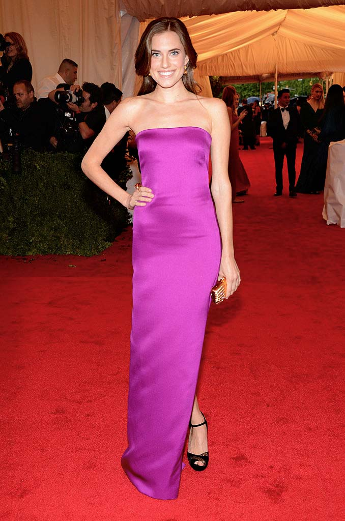 Allison Williams in Ralph Lauren Collection at the Met Costume Institute Gala, 2012