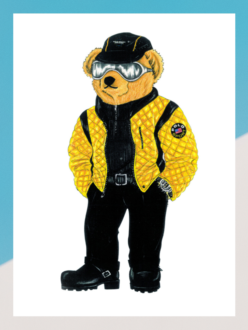 Polo Sport-clad Racer Bear made his debut in 1997
