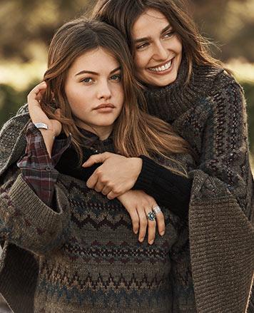 Women in Fair Isle sweaters