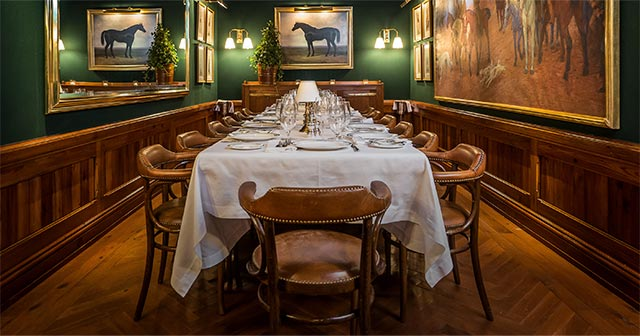 The private dining room at Polo Bar