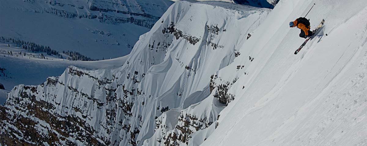 Photograph of skier at Jackson Hole
