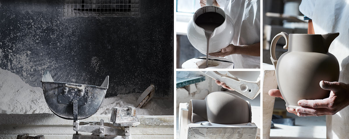 Pottery being sculpted and painted