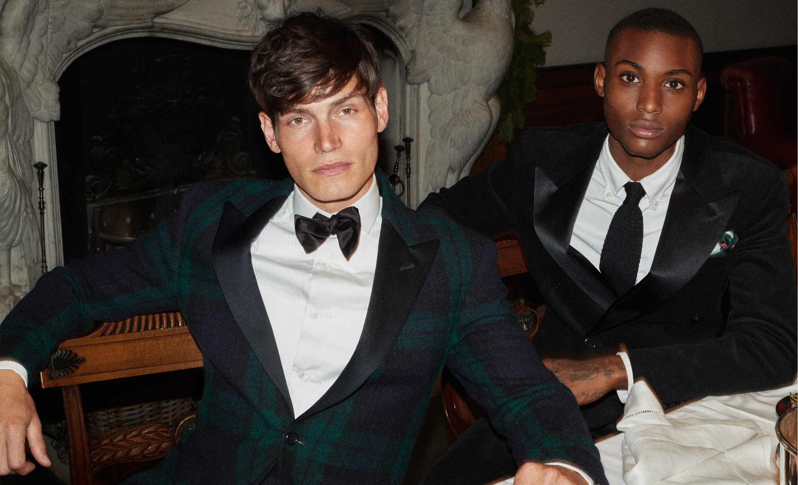 Formal looks from the Polo Ralph Lauren Holiday 2018 campaign